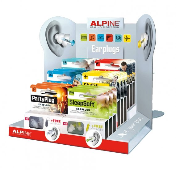 Oordopjes display karton 18 stuks - Alpine