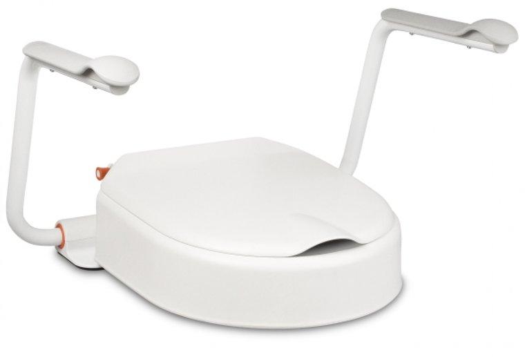 Hi Loo toiletverhoger vast met armleuning - hoogte 10 cm - Etac