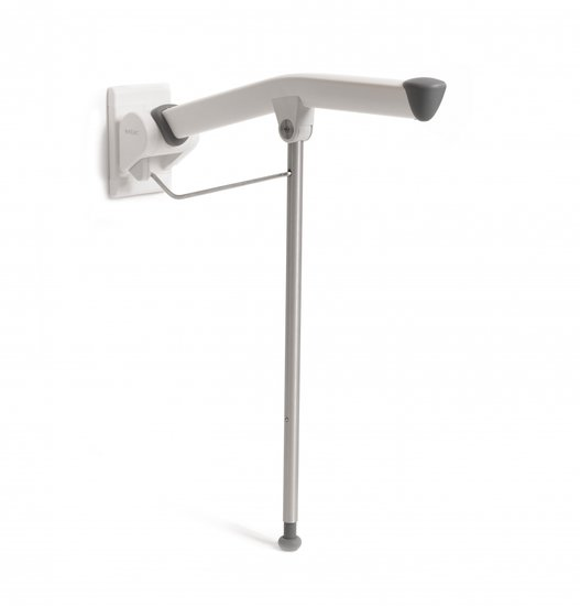 Rex toiletarmsteun - met steunpoot-70 cm - Etac