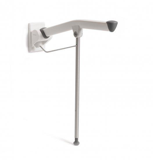 Rex toiletarmsteun - met steunpoot-85 cm - Etac