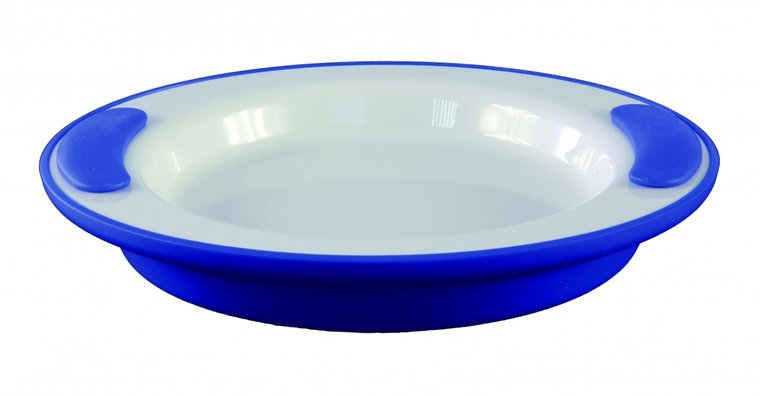 Warmhoudbord - wit- blauw - Ornamin