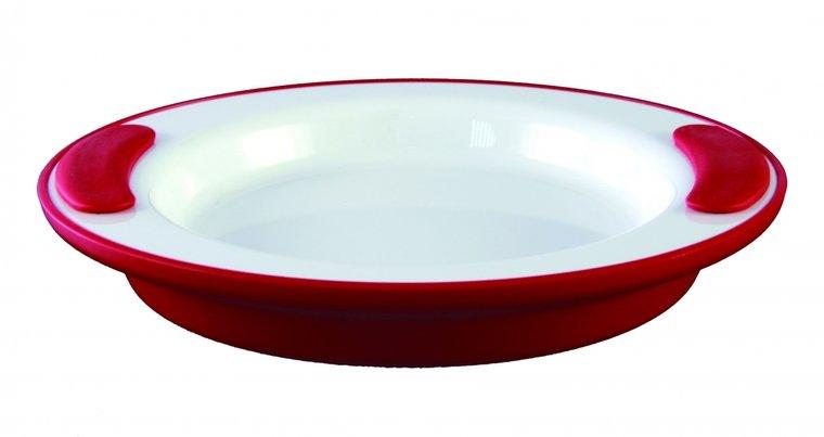 Warmhoudbord - wit - rood - Ornamin
