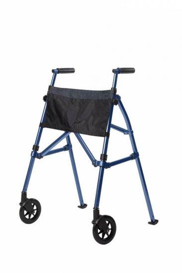 Looprek met 2 wielen - blauw - Fold N Go