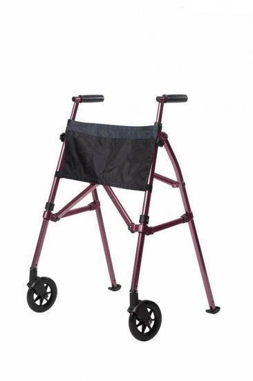 Looprek met 2 wielen - roze - Fold N Go