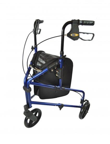 Aluminium 3-wiel Rollator - blauw