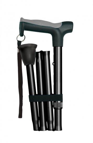 Opvouwbare wandelstokken - zwart - Hugo