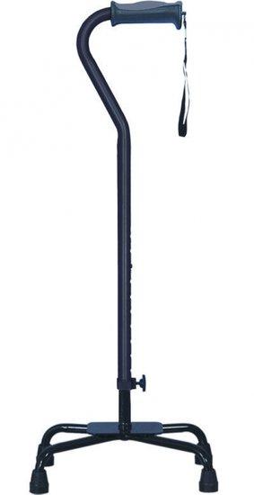Vierpoot wandelstok verstelbaar - groot - zwart - Hugo
