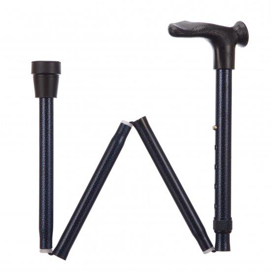 Opv wandelstok comfort Blue-Ice Rechts - Adj folding cane comfort grip blue ice R