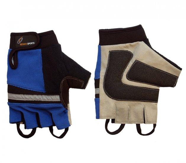 Rolstoelhandschoenen Blauw - L - RevaraSports