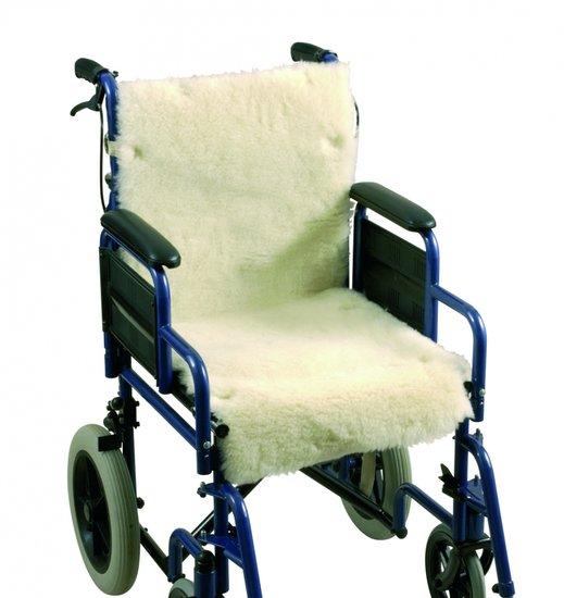 Schapenvacht voor rolstoel - rug - zitting
