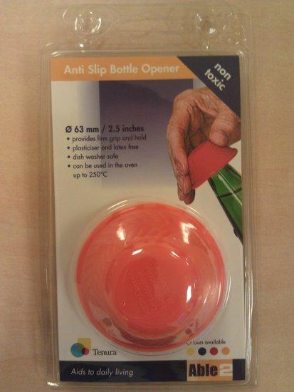 Anti-slip flesopener - oranje - Able2