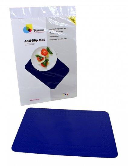 Anti-slip matten rechthoekig - L 45 x B 38 cm blauw - Able2