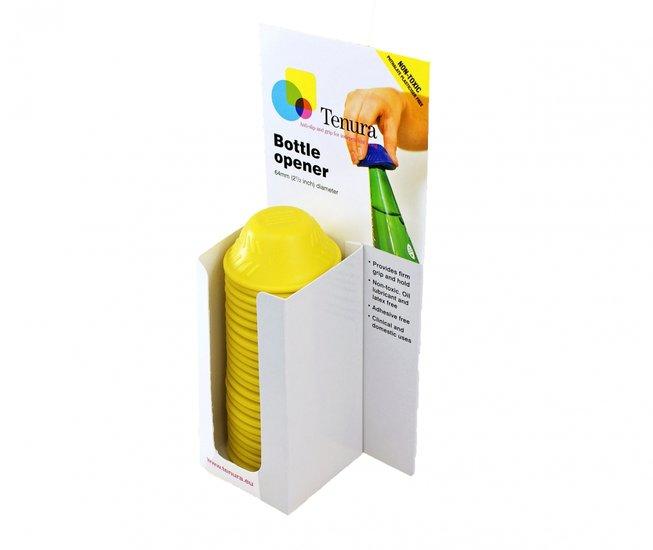 Anti-slip flesopener - flesopener geel display 25 st - Able2