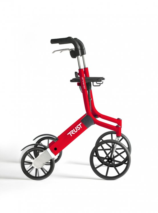 Let's Go Out rollator - Rood - Trustcare