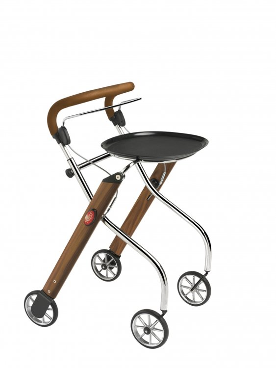 Let's Go Indoor rollator - Walnoot/chroom - Trustcare