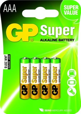 AAA batterijen - 4 stuks - GP