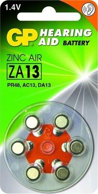 Zink Air hoorapparaat batterijen - ZA13-blister 6 stuks - GP
