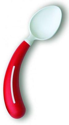 Bestek - lepel linkshandig rood - Henro-Grip