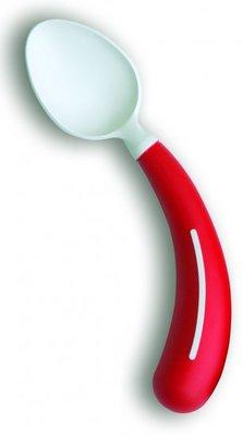 Bestek - lepel rechtshandig rood - Henro-Grip