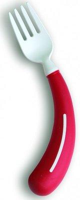Bestek - vork rechtshandig rood - Henro-Grip
