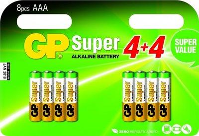 AAA batterijen multipack - 8 stuks - GP
