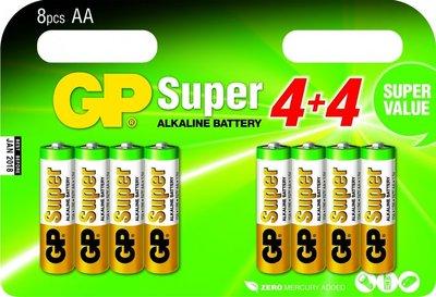 AA batterijen multipack - 8 stuks - GP