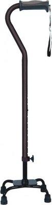 Vierpoot wandelstok verstelbaar - klein - bruin - Hugo