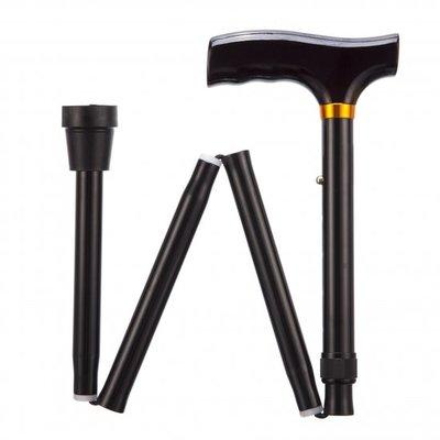 Opvouwbare wandelstok - zwart 84 - 94 cm