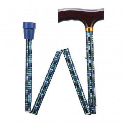 Opvouwbare wandelstok - Squares 76 - 89 cm