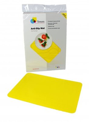 Anti-slip matten rechthoekig - L 45 x B 38 cm geel - Able2