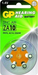 Zink Air hoorapparaat batterijen - ZA10-blister 6 stuks - GP
