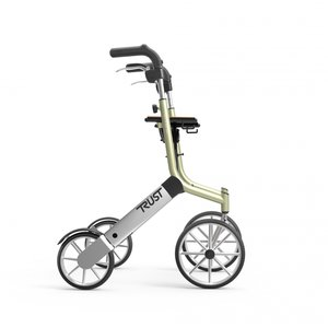Let's Go Out rollator - Beige/zilver - Trustcare